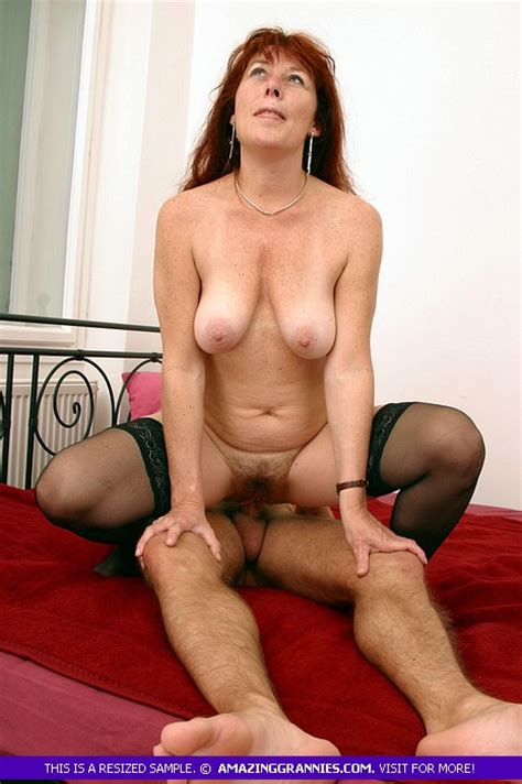 Gilf big boobs riding dick Redhead Granny With Big Breasts And Hairy Bush Is Riding Hot