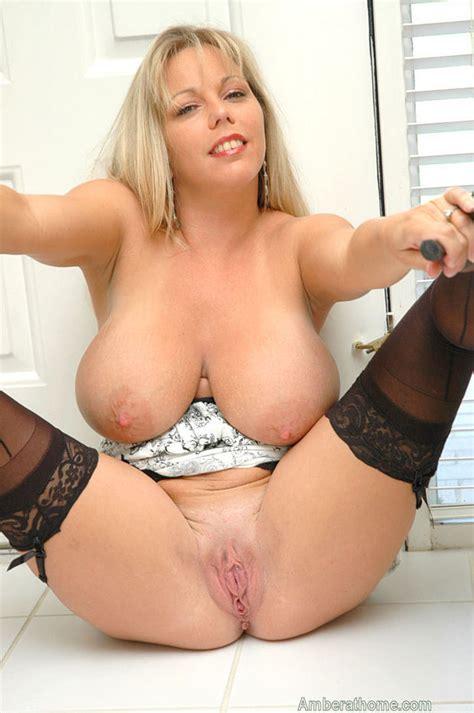 Tall Blonde Natural Tits